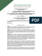 LEY ORGANICA MUNICIPAL DE HIDALGO