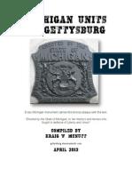 Michigan Units at Gettysburg