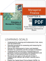 Managerial Finance Chapter 8 - Risk and Return by Endah Riwayatun