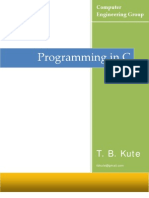 Programming in C by Kute T. B.