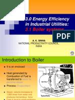 Mr. a. K. Sinha - Energy Efficiency Industrial Utilities - Boiler Systems