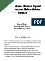 1. Variasi Bahasa