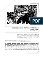 Entrevista a Paulo Freire