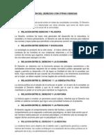RELACIÓN DEL DERECHO CON OTRAS CIENCIAS