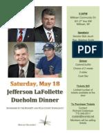 2013 Dueholm Dinner Flyer Burnett