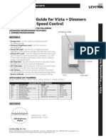 Programming Guide for Vizia + Dimmers and Quiet Fan Speed Control