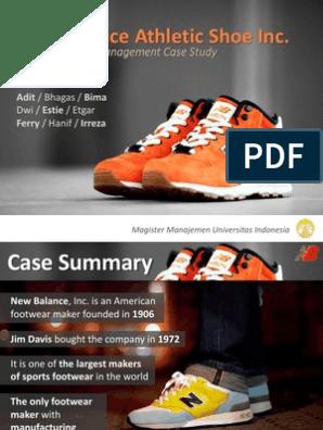 new balance athletic shoes case study analysis ppt