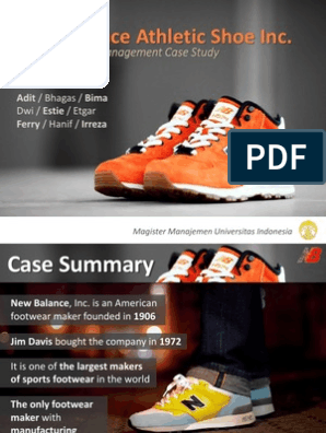 newest style best quality good service New Balance Athletic Shoe Inc Presentation | Lean ...