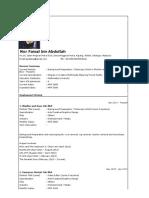 Faisal's CV