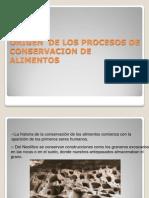 Origen Conservacion de Los Alimentos Clase 2