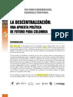 Descentralizacion en Colombia Foro Por Colombia