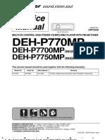 Pioneer Deh-p770mp, Deh-p7700mp, Deh-p7750mp Service Manual