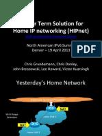 HIPnet NAv6 Summit 2013
