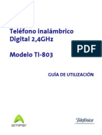 Teléfono inalámbrico_Digital 2,4GHz
