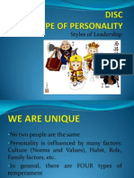 DISC Types of Personality