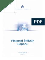 Finansal Istikrar Raporu Agustos 2005