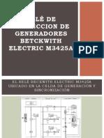 RELÈ DE PROTECCION DE GENERADORES BETCKWITH ELECTRIC M3425A