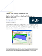 Surface Pit Design and Range Diagrams