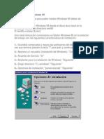 Instalación de Windows 95 sistemas