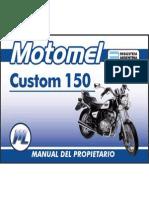 Manual Del Usuario Motomel Custom 150