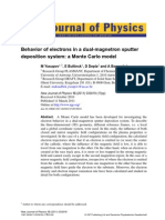 Behavior of Electrons in a Dual-m Agnetron Sputter Deposition System a Monte Carlo Model