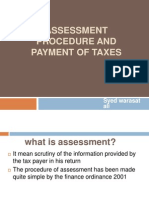 Assessment Procedure and Payment of Taxes