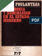 Nicos Poulantzas Hegemonia y Dominacion en El Estado Moderno