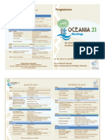 Le programme d'Oceania 21 Meetings