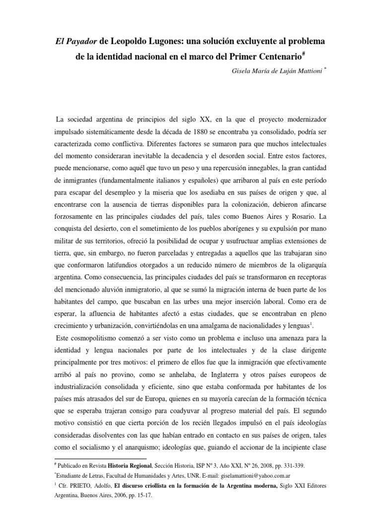 El Payador Leopoldo Lugones Pdf