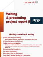 Lecture-8-Writing and Presenting Project Report