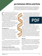 GRiSP AR 2012 - Genetic bridges between Africa and Asia