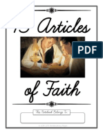 13 Articles of Faith Copywork in Cursive