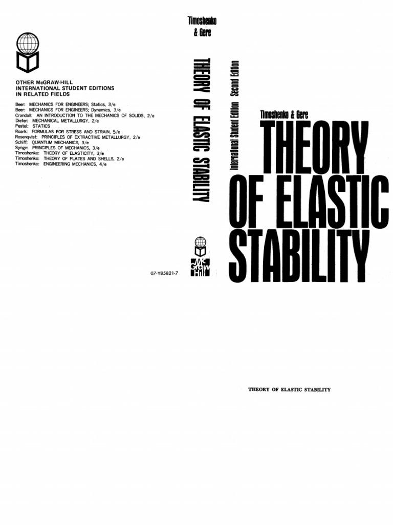 Theory of elastic Stability timoshenko by .pdf
