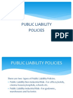 Types of Public Liability Policies