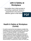 Health and Safety at the Workplace