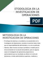 Metodologia en La Investigacion de Operaciones