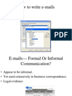 How to Write E-Mails