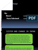 Sistem and Change in Japan