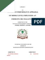 Performance Appraisal in Maruti