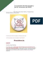 Comunicado 50 Aniversario Fes of i