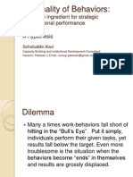Rationality of Behaviors