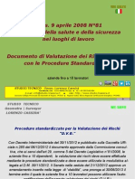 Documento Valutazione Rischi - Procedure Standardizzate