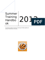 Summer Training handbook.doc
