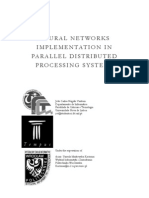 Neural Networks implementation in parallel distributed processing systems