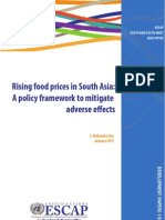 Rising Food Prices in South Asia - a Policy Framework to Mitigate Adverse Effects