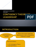 Contigency Theory of Leadership