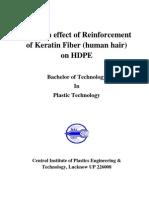Study on Effect of Reinforcement of Keratin Fiber