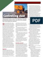Controling Dust