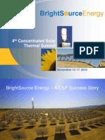 CSP TOWER BrightSourceEnergy