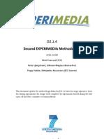 D2.1.4 Second EXPERIMEDIA Methodology v1.0